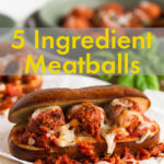 Meatballs with red sauce and cheese in a pretzel bun